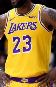 Los Angeles Lakers 2018 -19 icon jersey