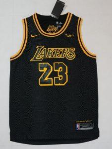 Los Angeles Lakers 2017 -18 black mamba city jersey