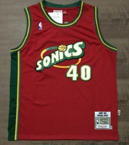 Seattle Supersonics 1997 -98 alternate jersey